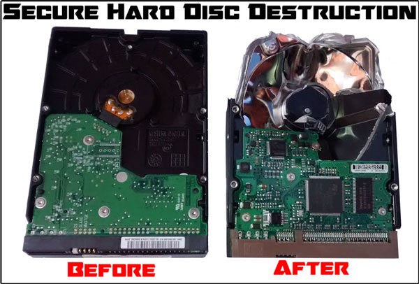 Crushed Hard Disc